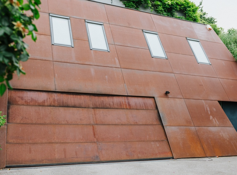 CORTEN-Stahl Hausfassade